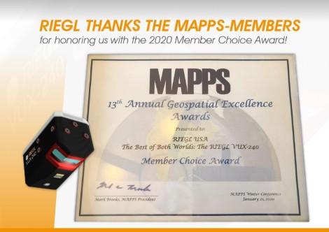 MAPPS member award